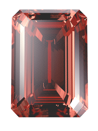 Hair or cremation ashes are turned into a red LONITÉ memorial diamond